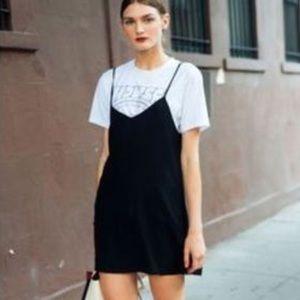 Madewell Black Velvet Mini Dress